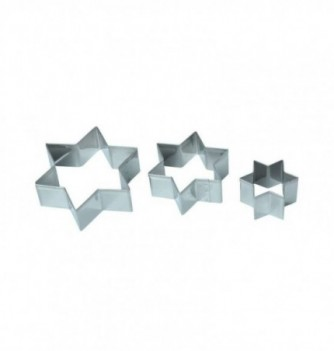 Pastry cutters - 3 Stars diam. 40 - 60 - 80xh.25mm