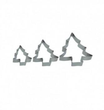 Pastry cutters - 3 Fir Trees 238x220x25mm - 180x136x25mm...