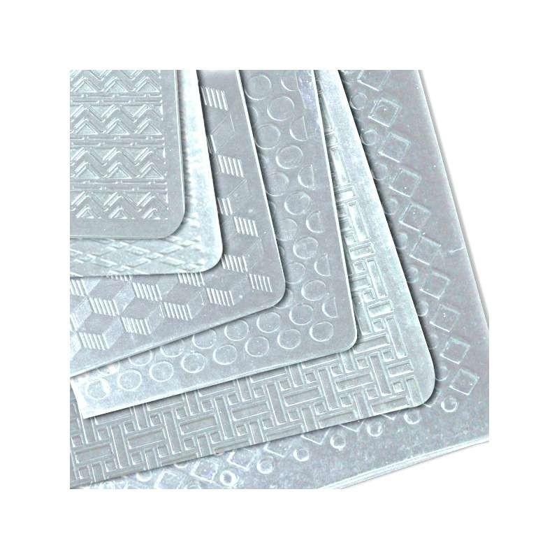Kit châblon silicone-vivak 3 ronds dentés 100mm