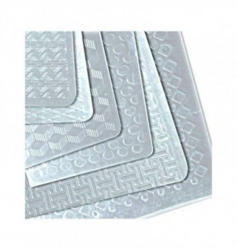 Thermorformed Relief Sheets - Assortment of 6 -400X300mm