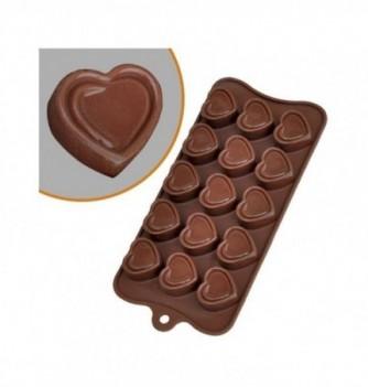 Moule Silicone Chocolat Coeur Contour