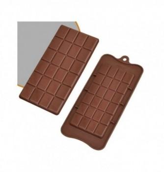 silicone mold choco decoflex Chocolate bar 155x75x7 - 80 gr