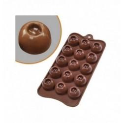 Moule silicone décors 15 cœurs 40mm