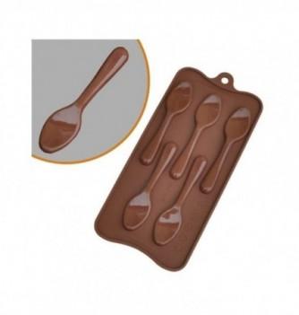 silicone mold choco decoflex Spoons 105x25x5 -7 gr