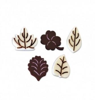 Moule Chocolat pour Décoration Assortiment de Feuilles