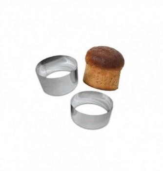 Stainless Steel Ring - Bread - Diam 16 cm h 9 cm