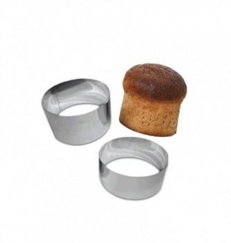Stainless Steel Ring - Bread - Diam 18 cm h 9 cm