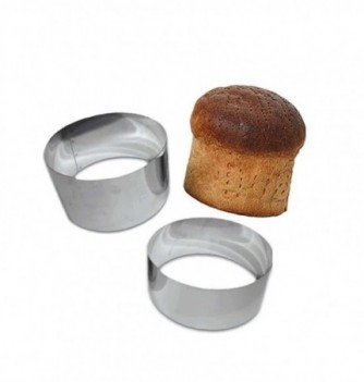 Stainless Steel Ring - Bread - Diam 20 cm h 9 cm