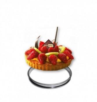 Stainless Steel Ring - Tart - Diam 18 cm h 2 cm