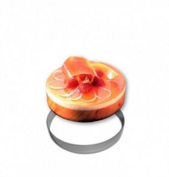 Stainless steel Ring - Entremet - Diam 20 cm h 3.5 cm