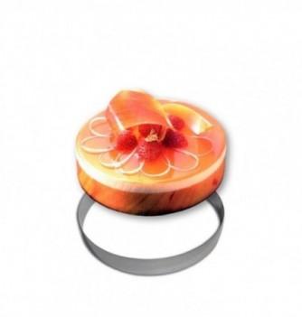 Stainless steel Ring - Entremet - Diam 22 cm h 3.5 cm