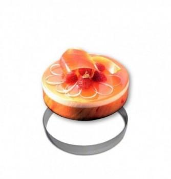 Stainless steel Ring - Entremet - Diam 24 cm h 3.5 cm