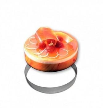 Stainless steel Ring - Entremet - Diam 26 cm h 3.5 cm