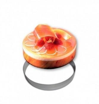 Stainless steel Ring - Entremet - Diam 28 cm h 3.5 cm