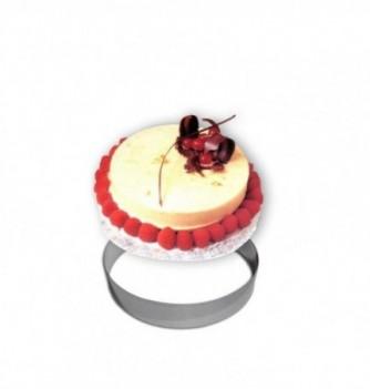 Cercle Mousse Pâtisserie Inox 16cm ht.4.5cm