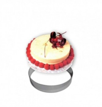 Cercle Mousse Pâtisserie Inox 18cm ht.4.5cm