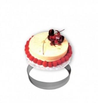 Cercle Mousse Pâtisserie Inox 20cm ht.4.5cm