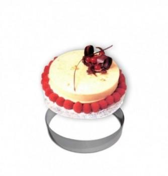 Cercle Mousse Pâtisserie Inox 22cm ht.4.5cm