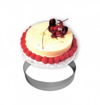 Cercle Mousse Pâtisserie Inox 30cm ht.4.5cm