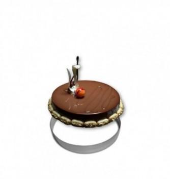 Cercle Mousse Pâtisserie Inox 20cm