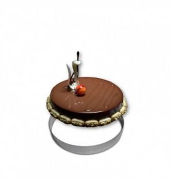 Cercle Mousse Pâtisserie Inox 22cm