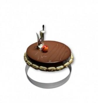 Cercle Mousse Pâtisserie Inox 24cm
