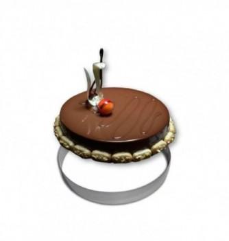 Cercle Mousse Pâtisserie Inox 26cm