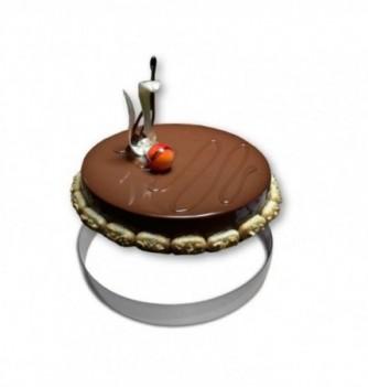 Cercle Mousse Pâtisserie Inox 28cm