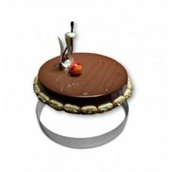 Moule Chocolat Père Noël en Scooter des Neiges 20cm