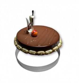Cercle Mousse Pâtisserie Inox 30cm