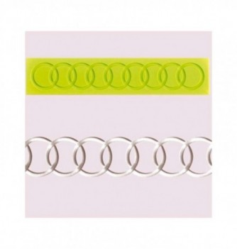 Silicone mold for lace - Rings 170x35mm