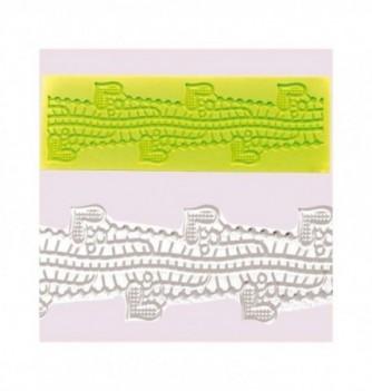 Silicone mold for lace -Crocodile 170x50mm