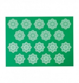 Silicone mat for lace - Flowers 300x400mm