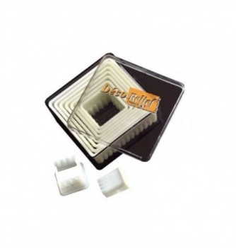 Pastry cutters - 9 Fluted Squares 18 to 95mm