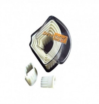 Pastry cutters - 9 Fluted 10 to 105mm