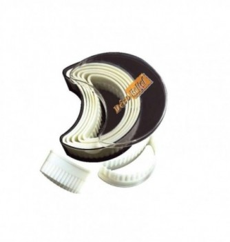 Pastry cutters - 8 Fluted Moon 70 to 110mm
