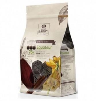 Chocolat de Couverture Barry Noir Equateur 76% Cacao