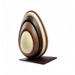 20 Feuilles transfert chocolat ronds et cercles pour PDR
