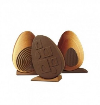 Chocolate Mold - Set of 3 Eggs with bases 160mm