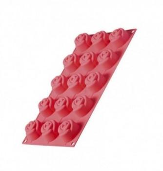 Moule Rose Silicone 15pcs 43mm
