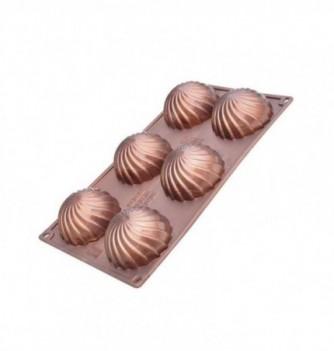 Moule Silicone Demi Sphère 6pcs Vrillées Relief