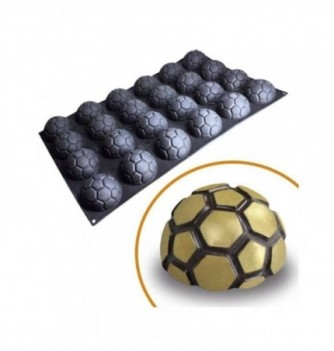 Silicone mold for cake- 24 pcs- Half Soccer ball 80x50mm