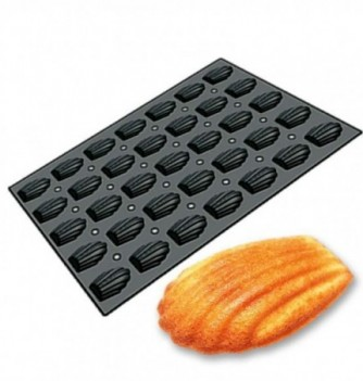 Silicone mold for cake- 35 pcs- Madeleines 50x47,8x17mm