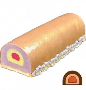 Yule Log Cake Mold in Plastic - Half Round Mini