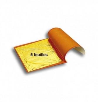 Feuille d'Or Alimentaire Carnet de 5 Feuilles