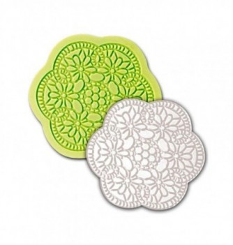 Silicone mold for lace - Arabesque Flower 210mm