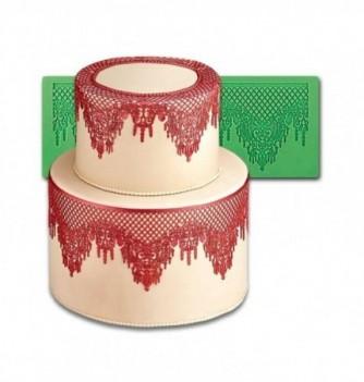 Moule Silicone Dentelle Collier de Coeurs et Pampilles