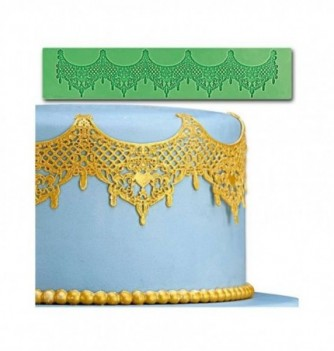 Silicone mold for lace - Baroque 80,5x390mm