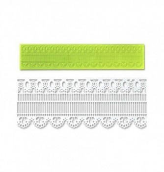 Silicone mold for lace - Doily Frieze 390x80x2,5mm