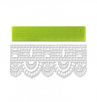 Silicone mold for lace -Oriental Gates Frieze 390x80x2,5mm